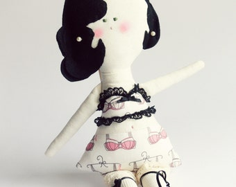OOAK Lingerie inspired Doll - Child Friendly DOLL - Home decoration Handmade in Italy