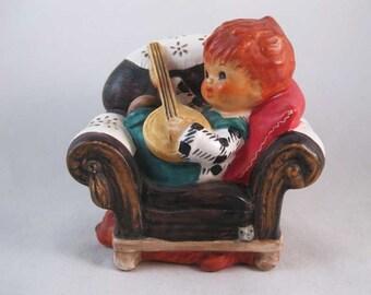 "Goebel Charlot Byj Redhead Boy With Banjo ""Off Key"" 1958"