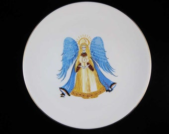 Hutschenreuther 1814 Hohenberg German Christmas Plate Winged Angel