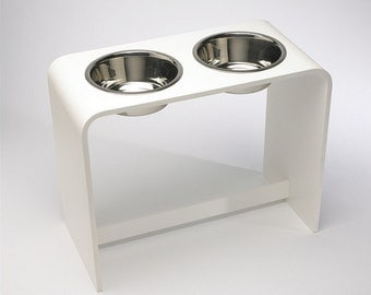 12 Inch Modern Elevated Dog Feeder