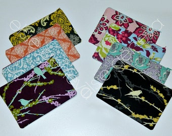 Small Medium Large X Large Zipper Pouch Black Grey Green Butterfly or Choose Any Fabric in My Shop Made to Order