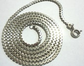 "Sterling Chain 27 "" Long Solid Sterling Polished C Link Chain Sterling Silver Chain 2.5 mm Wide Italian Made 14.4 Grams Weight"