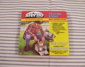 Vintage Sterno Folding Camp Stove - Like New - Never Used - Retro 1980s -