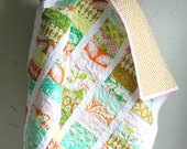 Modern Baby Quilt, Toddler Quilt, Crib Quilt, Baby Girl Quilt, Julia Coin Stacked Quilt