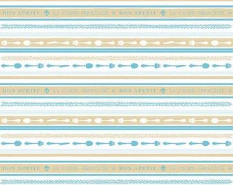 Ooh La La Stripe in Aqua - by Riley Blake Designs - you choose the cut
