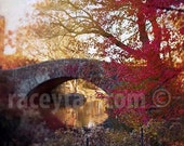 A Song of Red for Central Park Photography- NYC Art, New York Print, Rustic Decor, Orange Dark Red Brown Wall Art
