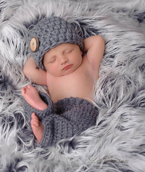 Newborn Baby Boy Hat, Baby Boy Shower Gift, New Baby Boy Gift, Newborn Hat for Boy, Baby Boy Beanie, New Mom Gift, Newborn Button Beanie