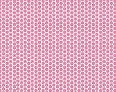 SALE 1 YARD Hot Pink Honeycomb Dot