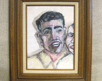 Male Portrait , Painting , Male Figure , Father and Son , Portraits , Portraiture , Man , Framed Art , Original Art , Fine Art , Handmade
