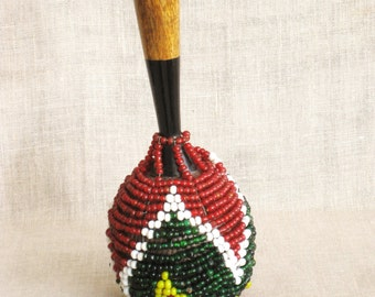 Shekere, African Rattle, Musical Instrument, Gourd Shekere, Percussion, Rattles, Maraca, Beaded, Instrument, Africa, National Colors, Music