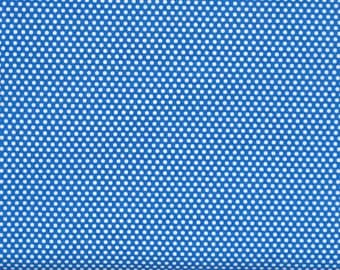 White Polka Dots on a Blue Background 100% Cotton Quilt Fabric from Fabric Traditions, FAT12904-B, Fat Quarter, Yardage, Made in America