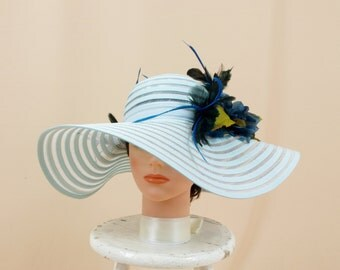 Sky Blue Hat * Blue and Green Hat * Kentucky Derby Hat * Church Hat * Blue Floppy Hat * Blue Wide Brim Hat * Ascot Hat * Sun Hat