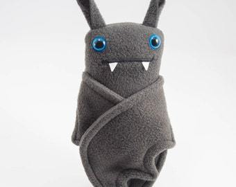 Flasher Bat! Handmade plush bat in tiny tighty whities....Custom stuffed animal....Heart waist band