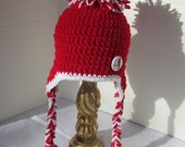St. Louis Cardinals Baseball Baby Cap,  MADE TO ORDER by Charlene, St. Louis Cardinals Inspired, Photo Prop, Pom Pom Hat