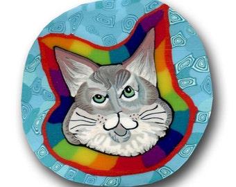 Rainbow Kitty- Polymer Clay Silly Milly