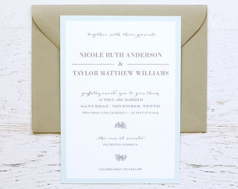 Natalie Custom Wedding Invitation