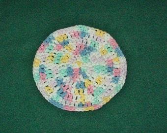 Pastel Round Washcloth Dishcloth