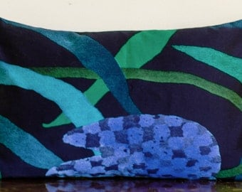 "Marimekko Lumbar Pillow Cover, Handmade.12""x20""(30x50cm)"