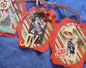 SALE Old Fashioned Holiday Tags - Wood