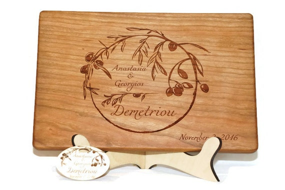 Mediterranean cutting board personalized olive leaf kitchen for Italian kitchen gifts