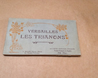 Vintage French Postcard Book Versailles & Les Trianon G. Braun, Editor Text in French and English