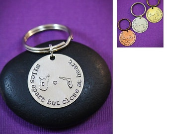 Sisters Gift - Friend Sister - Bridesmaid Gift - Bridesmaid Keychain - Maid of Honor Thank You - Personalized Goodbye Goodluck Charm