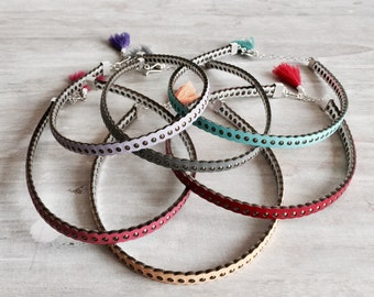 Geniune Leather Choker in Colors