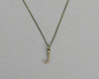Antique Bronze j Necklace