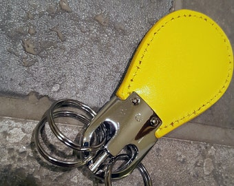 Genuine Leather key fob with three detachable key rings, Vintage & Hard to find!