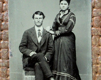 Tintype - Couple, In Sickness & in Health