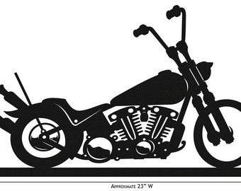 Hand Made Farrell Bobber Motorcycle Simple Silhouette *NEW*
