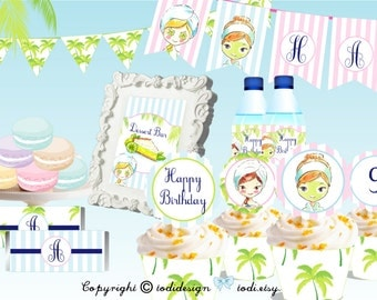 SPA Birthday Party Printables- INSTANT DOWNLOAD