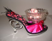 Shoe Candy Dish sexy black and pink