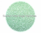 Mint Green Sanding Sugar  Edible Sprinkles,Custom Colors, Cake Pop Cookie Decorations Confetti