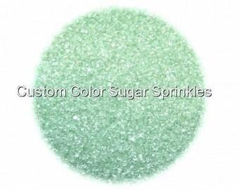 Mint Green Sanding Sugar  Edible Sprinkles,Custom Colors, Cake Pop Cookie Decorations Confetti