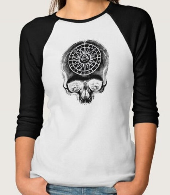 Astrology Skull Raglan