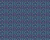Henry Glass's, Laugh, Love, Quilt Triangles (Navy) 1 yard