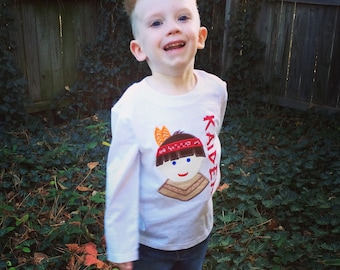 Personalized Indian Boy Thanksgiving Shirt