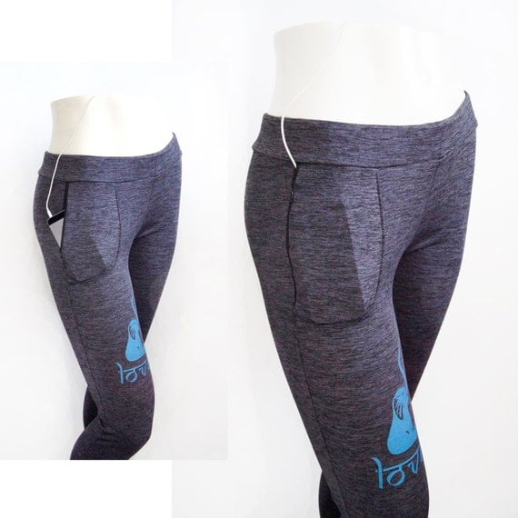 Items Similar To Running & Yoga Pants With Zipper Pocket