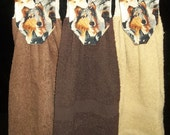SPECIAL ORDER for Gracefulantiques -  16 Collie Dog Towels