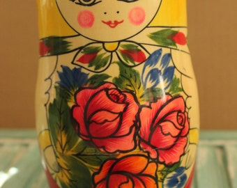 Russian Colorful Folk Art 8 Pc. Matryoshka Nesting Doll Set