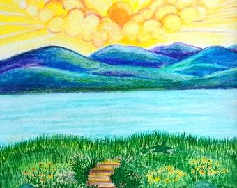Mountain lake, Blue Ridge Mountains, Floyd County, Virginia, Abundant Dawn, Swimming hole