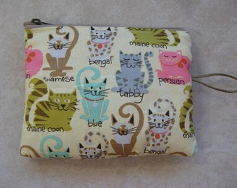 cat padded makeup jewelry bag
