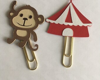 Circus  monkey Planner paperclip. Pick one