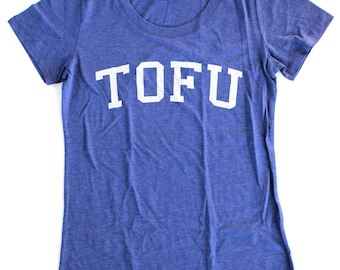 Tofu T-Shirt WOMENS  -  Available in S M L XL and five shirt colors  -  vegetarian vegan