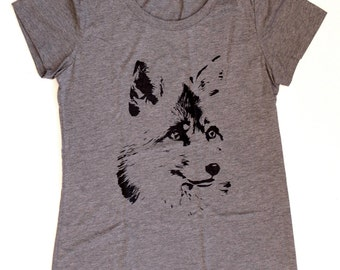 Fox WOMENS T-Shirt  -  Available in S M L XL  -  nature cute animal tee