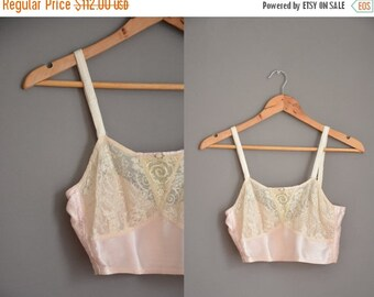 Anniversary SHOP SALE... 20s antique pink silk bra / vintage 1920s bra