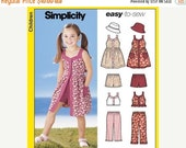 ON SALE Simplicity Girls Pattern 5540 -  Girls Dress, Top, Pants or Shorts and Hat - Children's Sizes 3 to 8