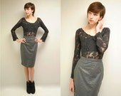 Leather Skirt  // Leather Pencil Skirt  //   TRUE SMOKE
