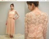 20% off sale - 70s Lace Dress  //  Lace Prom Dress  //  THE ELIZABETH